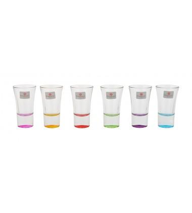 Borgonovo Indro colored Senior Shot Glass 55ml, 6 Pieces, Multi-Color