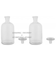 Aggarwal Crockery & Scientific Stores Reagent Narrow Mouth Bottle 1000 ml, Clear Pack of 2