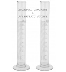 Aggarwal Crockery & Scientific Stores Glass Measuring Cylinder (100 ml)