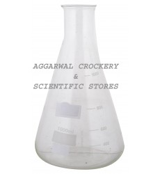 Aggarwal Crockery & Scientific Stores Conical Flask 1000ml Borosilicate Glass