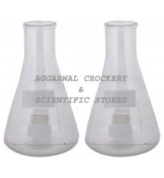 Aggarwal Crockery & Scientific Stores Conical Flask 250ml Borosilicate Glass (Pack of 2)