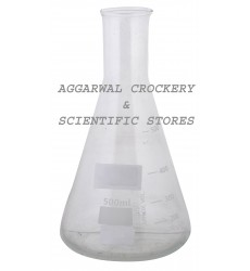 Aggarwal Crockery & Scientific Stores Conical Flask 500ml Borosilicate Glass