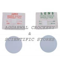 Aggarwal Crockery & Scientific Stores Convex & Concave Lens 50mm