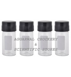 Aggarwal Crockery & Scientific Stores Media Bottle 15ml Borosilicate Glass (Pack of 4)
