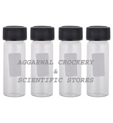 Aggarwal Crockery & Scientific Stores Media Bottle 20ml Borosilicate Glass (Pack of 4)