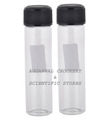 Aggarwal Crockery & Scientific Stores Media Bottle 30ml Borosilicate Glass (Pack of 2)