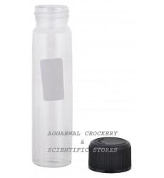 Aggarwal Crockery & Scientific Stores Media Bottle 30ml Borosilicate Glass (Pack of 2)