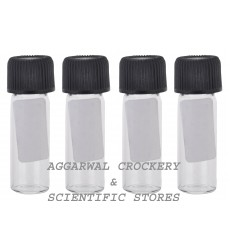 Aggarwal Crockery & Scientific Stores Media Bottle 5ml Borosilicate Glass (Pack of 4)