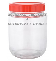 Aggarwal Crockery & Scientific Stores Glass Jar with Plastic Lid 1000ml