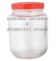 Aggarwal Crockery & Scientific Stores Glass Jar with Plastic Lid 750ml