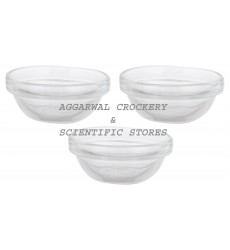 Aggarwal Crockery & Scientific Stores Glass Bowl 60mm (Pack of 3)