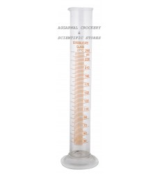 Aggarwal Crockery & Scientific Stores Glass Measuring Cylinder 250ml Borosilicate Glass