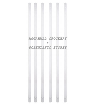 Aggarwal Crockery & Scientific Stores Glass Rod 9mm x 305mm (Pack of 6)