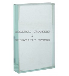 Aggarwal Crockery & Scientific Stores Glass Slab100x60x20mm (Pack of 2)