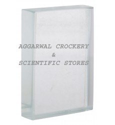 Aggarwal Crockery & Scientific Stores Glass Slab75x50x18mm (Pack of 2)