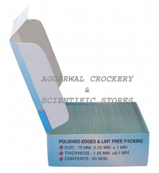 Aggarwal Crockery & Scientific Stores Microscope Glass Slide (Pack of 50 Slides)