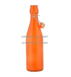 Aggarwal Crockery & Scientific Stores Long Glass Bottle Orange 1000ml