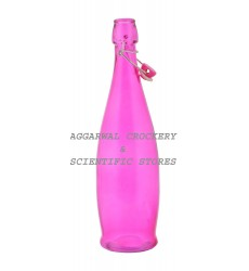 Aggarwal Crockery & Scientific Stores Long Glass Bottle Pink 1000ml