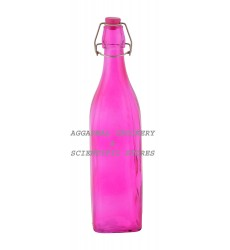 Aggarwal Crockery & Scientific Stores Glass Bottle Pink 1000ml
