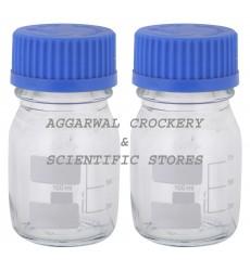 Aggarwal Crockery & Scientific Stores Reagent Bottle Screw Cap 100ml Borosilicate Glass (Pack of 2)