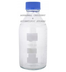 Aggarwal Crockery & Scientific Stores Reagent Bottle Screw Cap 1000ml Borosilicate Glass