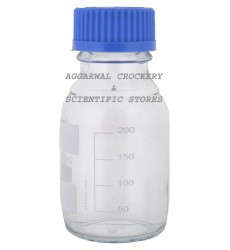 Aggarwal Crockery & Scientific Stores Reagent Bottle Screw Cap 250ml Borosilicate Glass