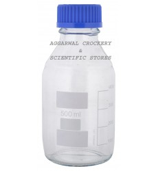 Aggarwal Crockery & Scientific Stores Reagent Bottle Screw Cap 500ml Borosilicate Glass