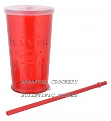 Aggarwal Crockery & Scientific Stores Summer Glass Red 400ml