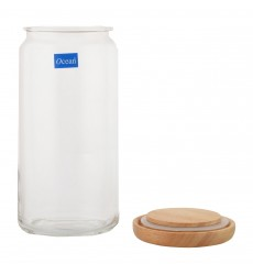 Ocean Pop Jar Set Wooden Lid, 1000ml