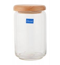 Ocean Wooden pop Jar 650ml