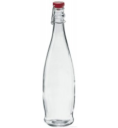 Borgonovo Bottle Indro 1000 ml with Red Lid, Set of 3
