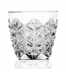 RCR Enigma Collection Double Old Fashion Glasses (Set of 6), One Size, Clear