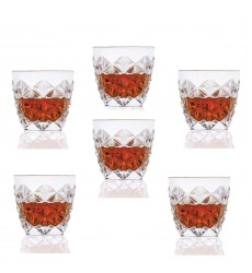 Lorren Home Trends Enigma Collection Double Old Fashion Glasses (Set of 6), One Size, Clear