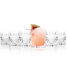 RCR Oasis Crystal Short Whisky Water Tumblers Glasses, 320 ml, Set of 6