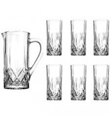 RCR OPERA 7 PC DRINK SET (1 CRUSTAL JUG + 6 CRYSTAL GLASSES)