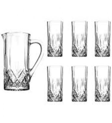 RCR OPERA 7 PC DRINK SET (1 CRUSTAL JUG + 6 CRYSTAL GLASSES)