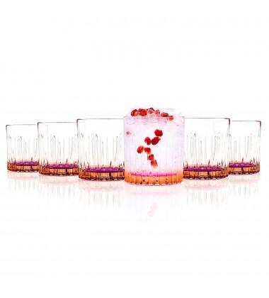 RCR Gipsy Crystal Short Whisky Water Tumblers Glasses Orange 82 X 82 X 93 C