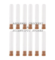 Aggarwal Crockery & Scientific Stores Golden Iron Shot Tube - 50 ml x 12 Pieces Clear