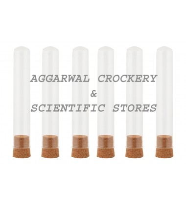 Aggarwal Crockery & Scientific Stores Iron Shot Tube 50ml x 6 Pieces with Shot Stand