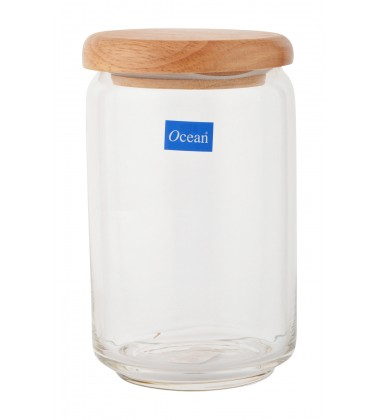 Ocean pop jar 750 ml with wooden lid Set of 6