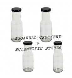 Aggarwal Crockery & Scientific Stores 200ml Flint Milk Bottle Set of 4