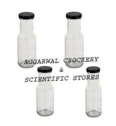 Aggarwal Crockery & Scientific Stores 200ml Flint Milk Bottle Set of 4