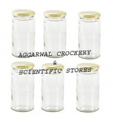 Aggarwal Crockery & Scientific Stores 250ml Long Glass Jar Set of 6