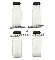 Aggarwal Crockery & Scientific Stores 490ml Square Milk Bottle Set of 4