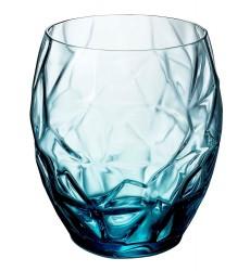 Bormioli Rocco Prezioso Double Old Fashioned Glasses (Set of 6), 13.5 oz, Blue