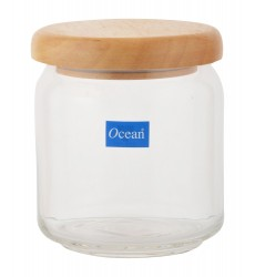 Ocean Pop Jar 500ml Wooden Lid(set of 6)
