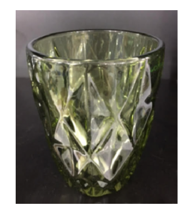 Aggarwal Crockery & Scientific Stores Glass Green Color Water Glass 280ml