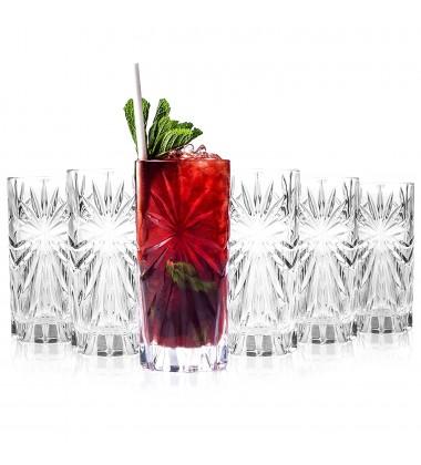 RCR Oasis Crystal HiBall Cocktail Water Tumblers Glasses