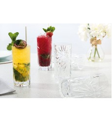 RCR Oasis Crystal HiBall Cocktail Water Tumblers Glasses