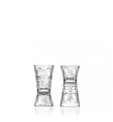 AGGARWAL CROCKERY & SCIENTIFIC STORES Tattoo Shot/Hour Glass 30-60 ml Set 2 Pcs
